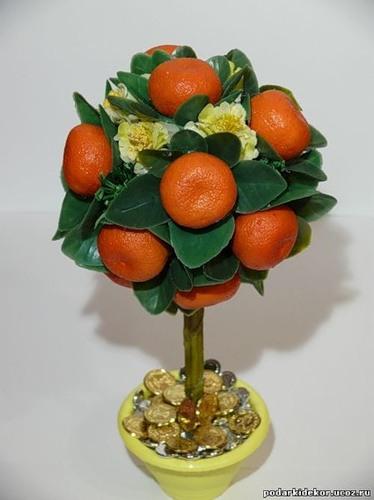 Мандариновое дерево - делаем шарики сами