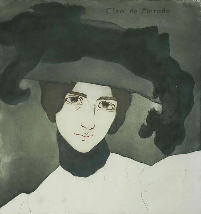 Портрет Клео де Мерод, Альфредо Мюллер, 1903 год. \ Фото: pinterest.ru.