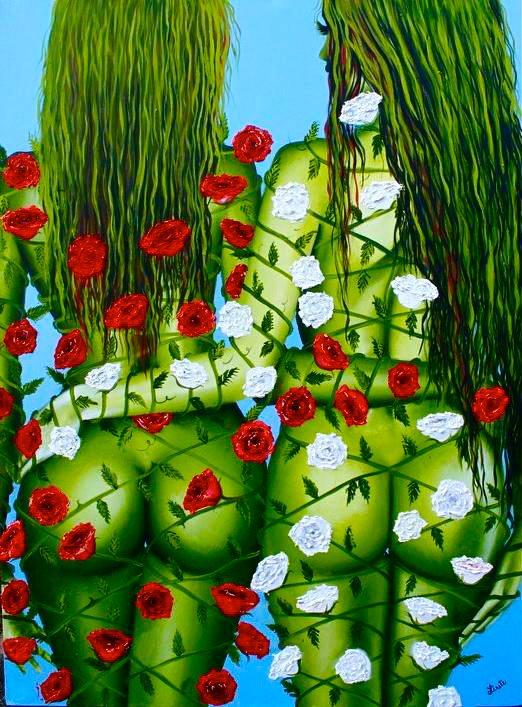 Cовременная мексиканская художница Лисет Алькальд (Lisete Alcalde) живопись, лисет алькальд