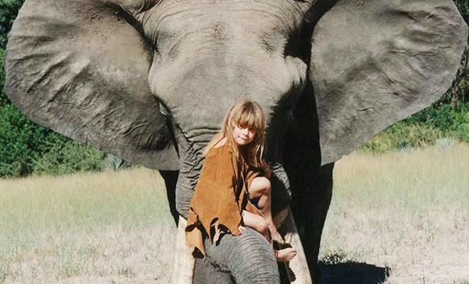 Типпи Дегре 10 лет росла среди животных словно Маугли. Родители умышленно сделали свой выбор
