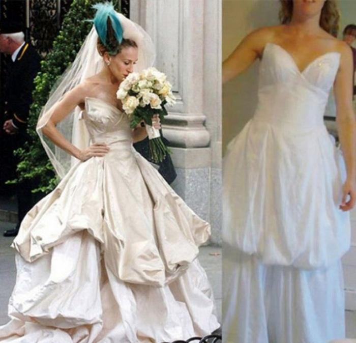 Жалкая пародия на шикарное свадебное платье.| Фото: vinepojaleete.ru.