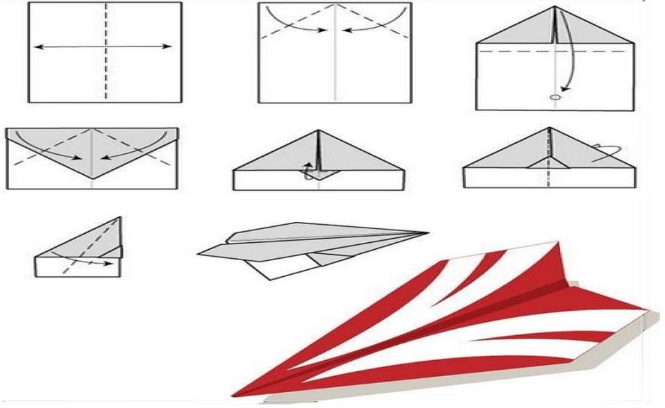 самолеты из бумаги картинки том