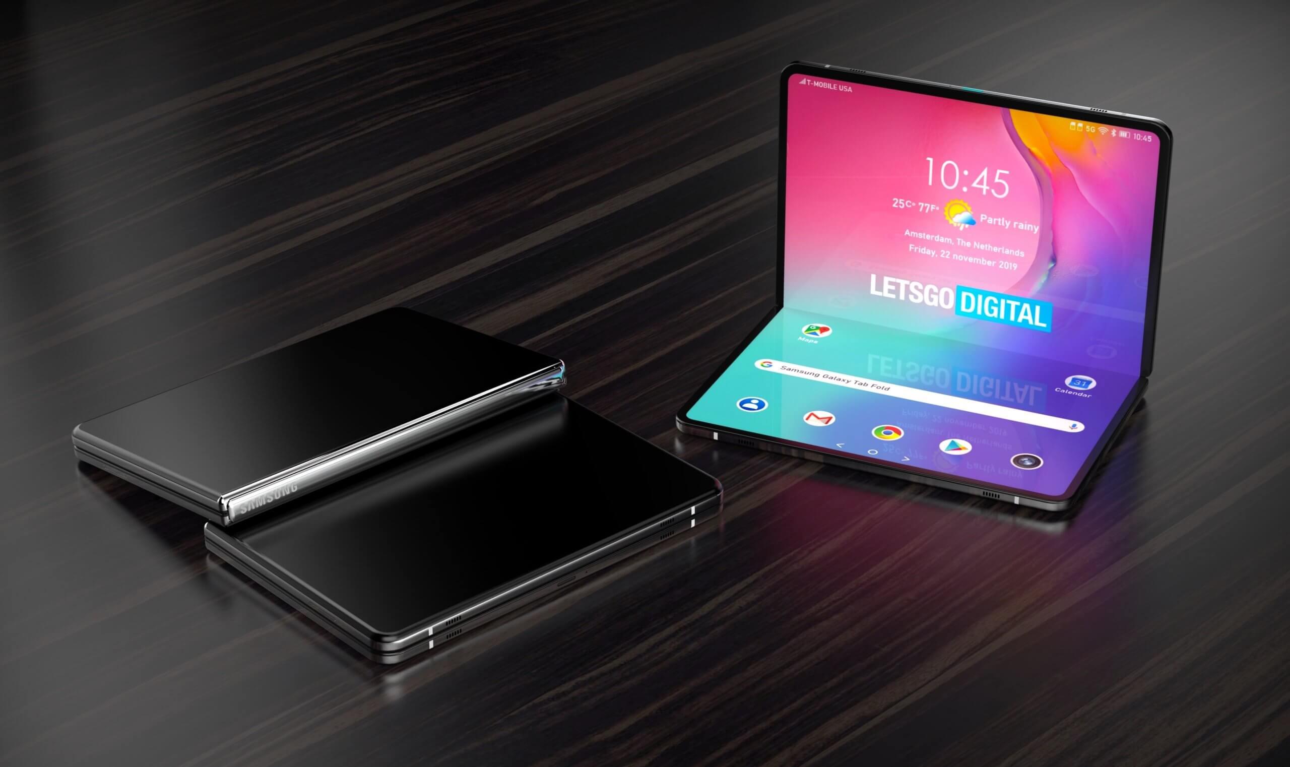 Samsung патентует смартфон с растягивающимся дисплеем
