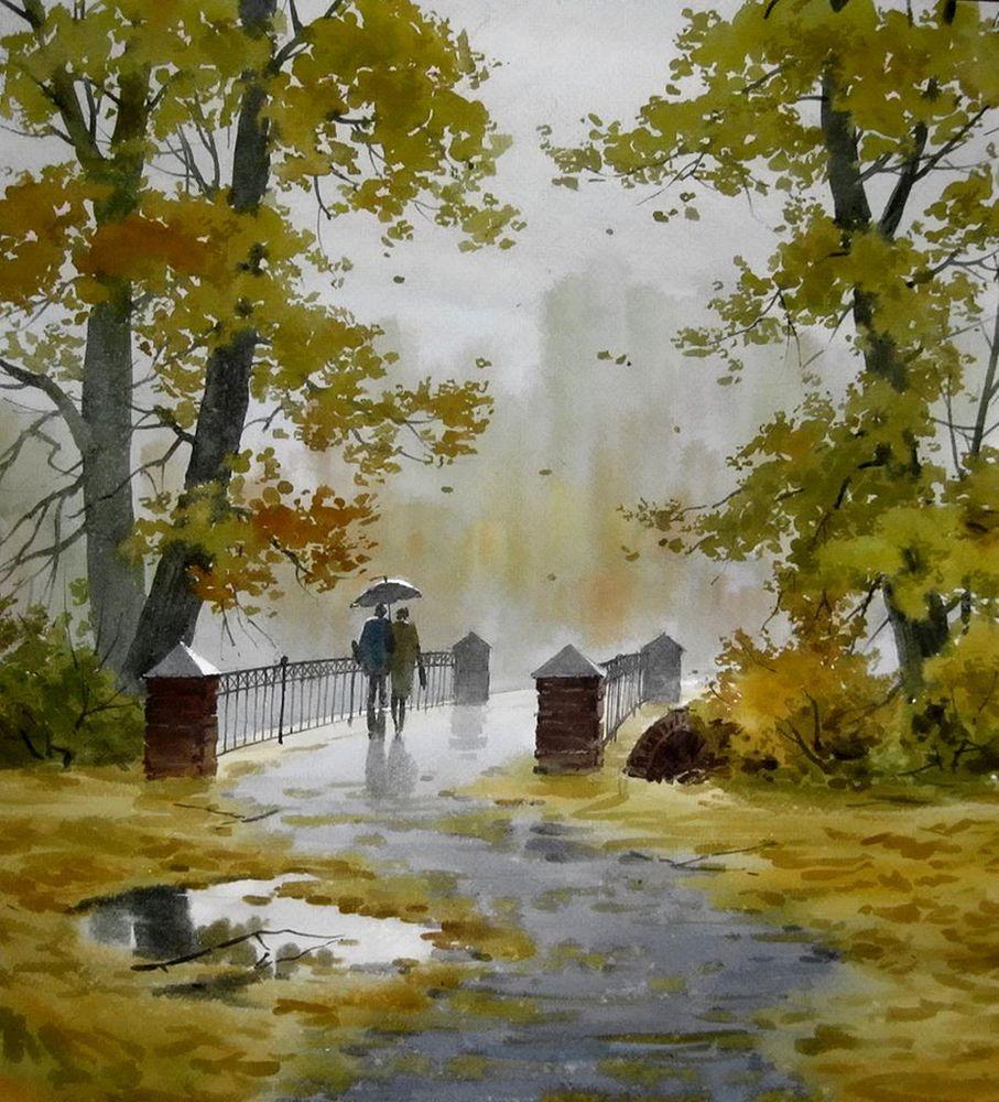 Акварельные пейзажи художника Ильи Горгоца, фото № 9