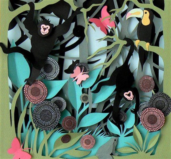 Объёмная картина с изображением джунглей