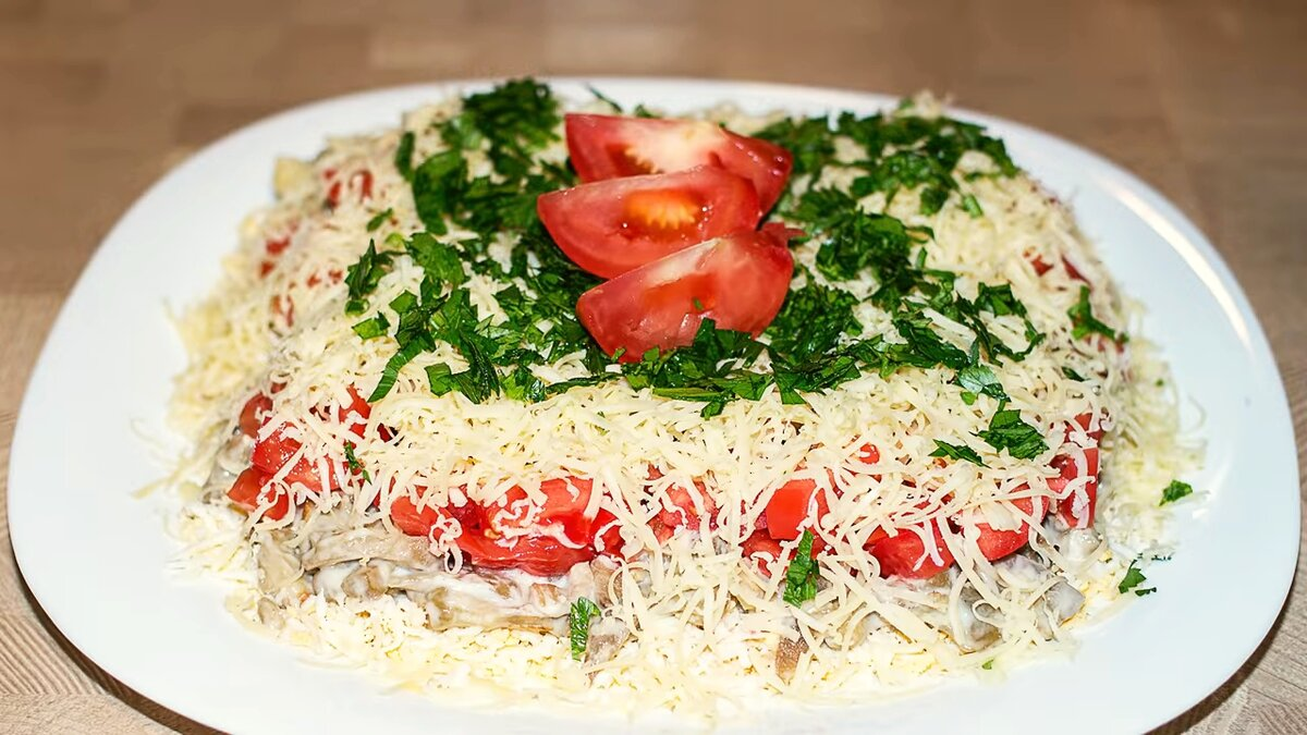 салат загадка рецепт с фото торт