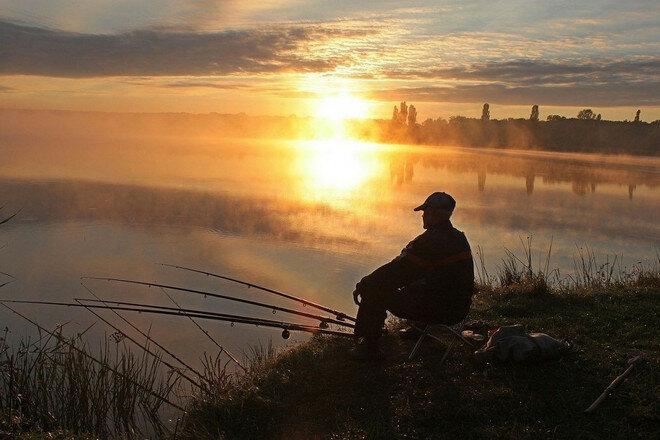 На ранней зорке с лёгким туманом хороший клёв