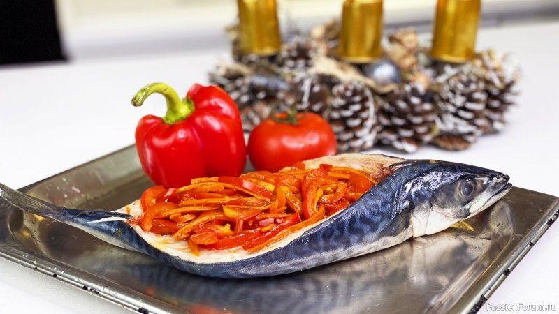 Запеченная cкумбрия в духовке с овощами за 20 минут - Недорого и полезно рыбные блюда