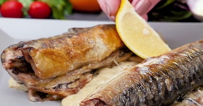 Скумбрия с грибами в винном соусе: сытно и вкусно даже без гарнира