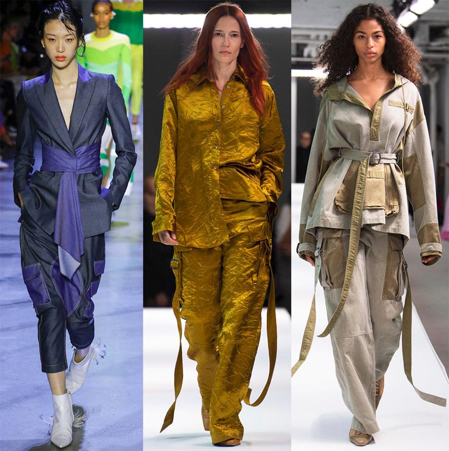 Модные женские брюки карго