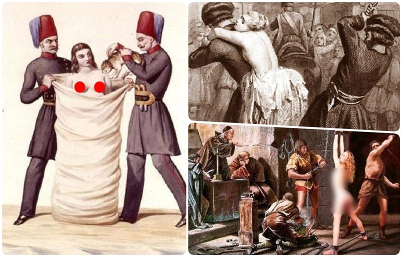 Что будет, если наставить мужу рога: как раньше жестоко наказывали жен за измену древний мир, интересно, история, наказание за измену, неверность, супруги