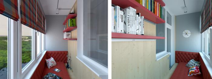 Установив балконный диван во всю длину балкона, там вздремнуть можно и почитать любимую книгу погрузившись в неё с головой.