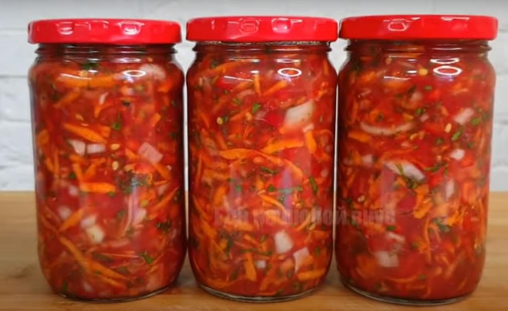 Простая и вкусная овощная заготовка на зиму