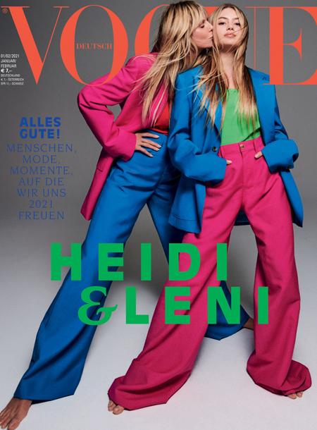 Вся в мать: 16-летняя дочь Хайди Клум дебютировала на обложке Vogue Мода,Новости моды
