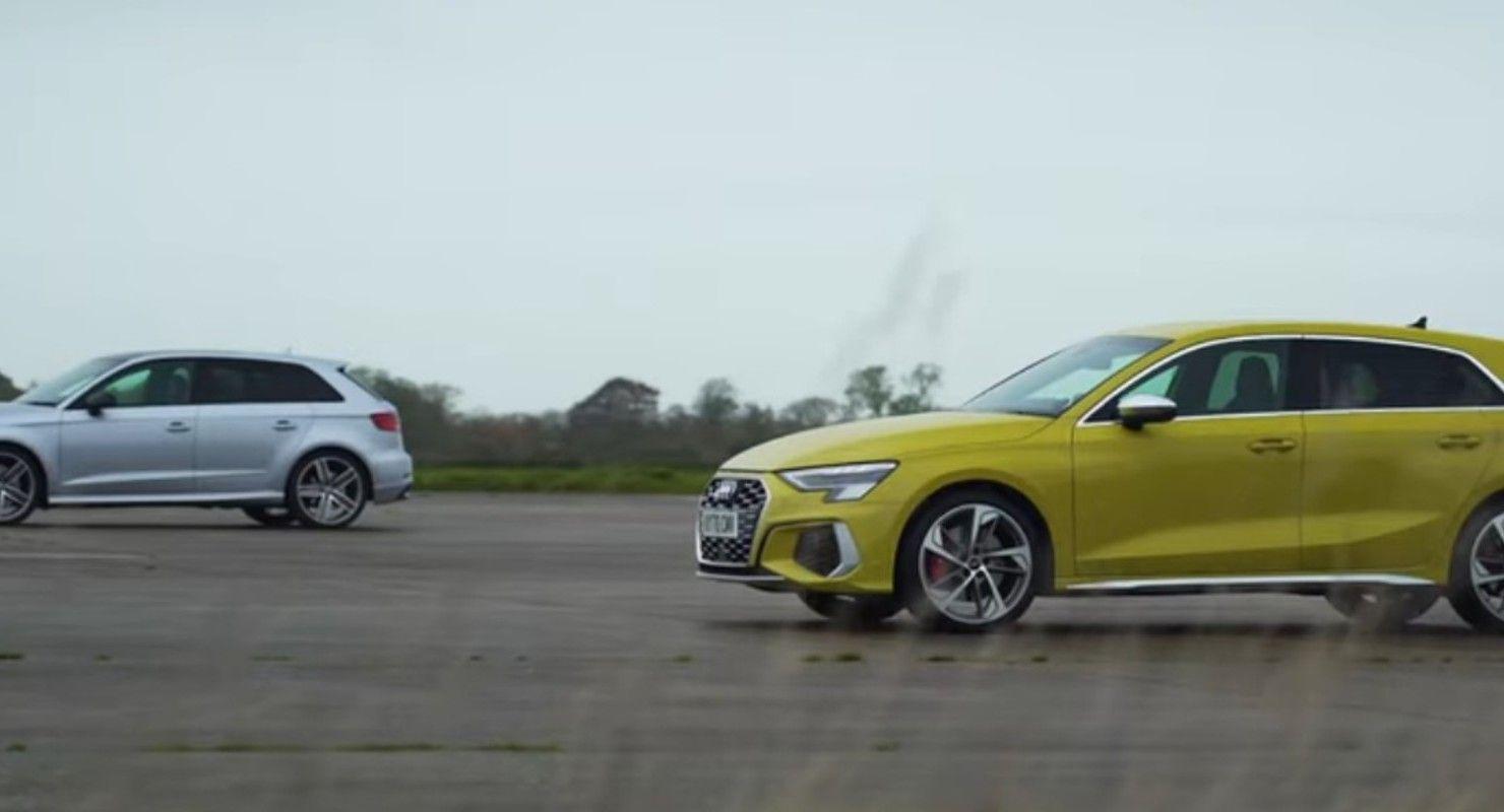 Две версии Audi S3 разных поколений соревнуются в Drag Race Автомобили