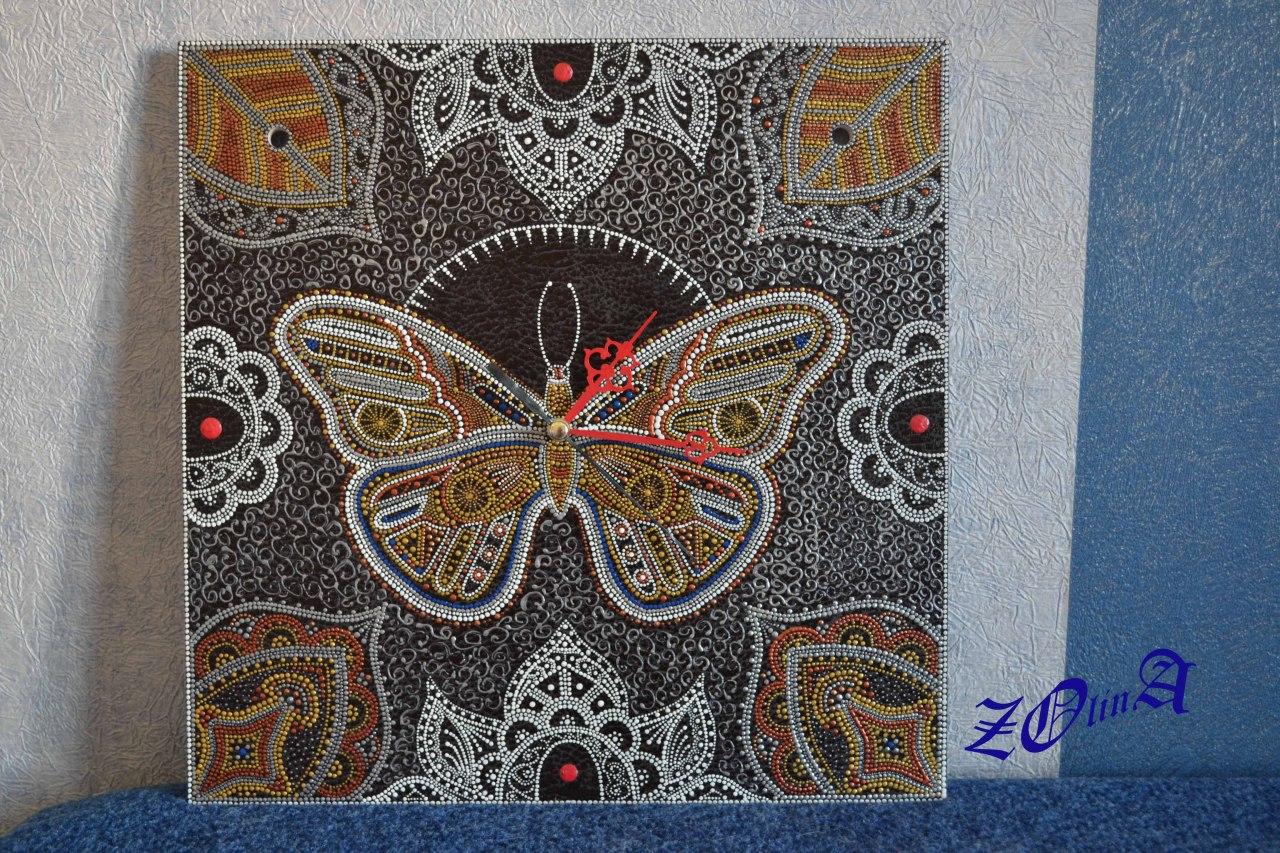 Весна...Бабочка. (Точечная роспись)