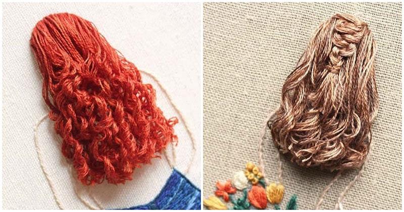 Невероятная 3D вышивка объёмных причёсок, от которых захватывает дух
