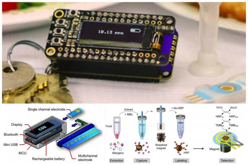 Портативный брелок-детектор для определения аллергенов в пище медицина, наука, разработки, роботы, техника