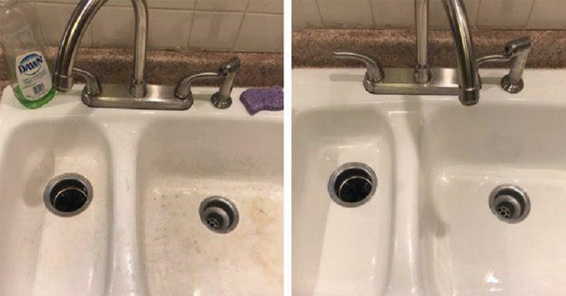 как почистить раковину