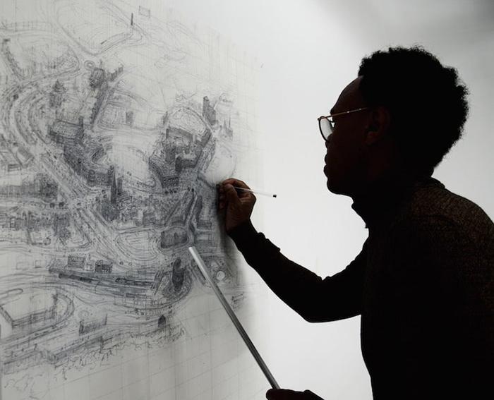 Художник рисует невероятно подробные эскизы британских городов шариковой ручкой