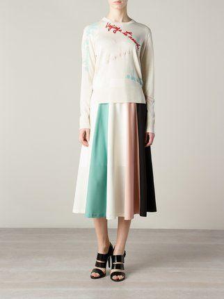 Эффектная  юбка в стиле колор-блок