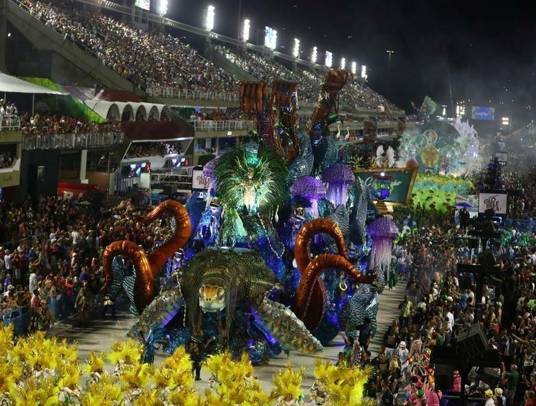 Инсталляции школы Grande Rio бразилия, в мире, карнавал, события, фото, фотоотчет, фоторепортаж