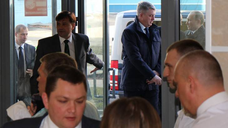 Как в Брянске встречали Владимира Путина