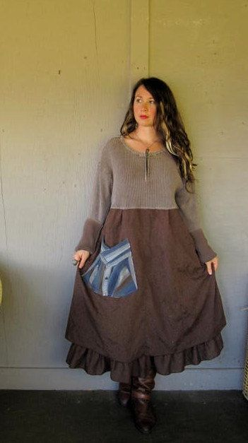 XL1X2X plus size Eco upcycled clothing by lillienoradrygoods,: