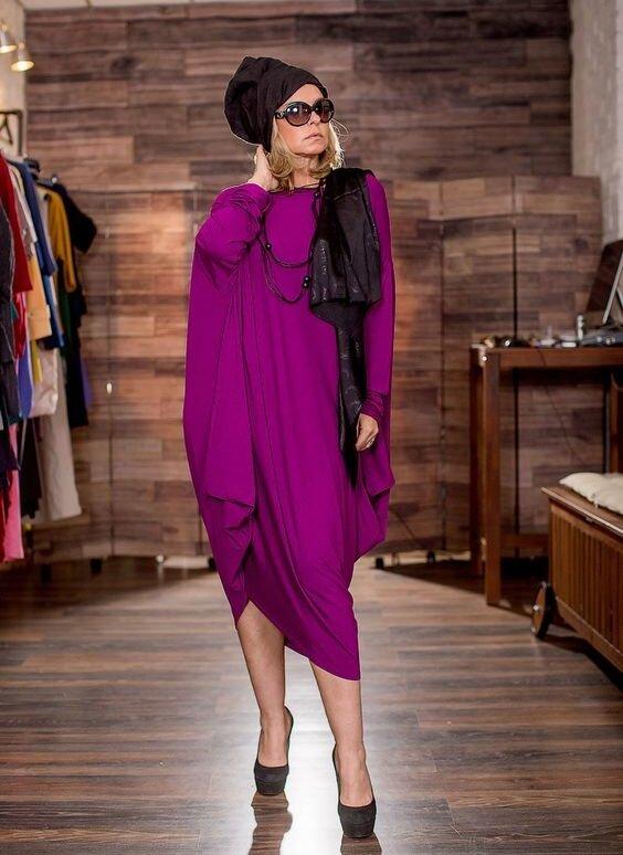 Свободное платье-ромб