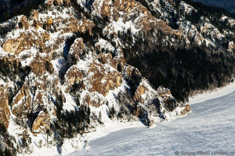 Скалистые берега залива. Красноярский край, высота, гора, красноярск, пейзаж, пещера, природа, фото