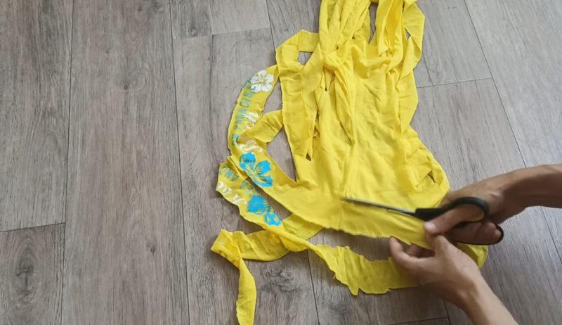 Отличная корзинка из садовой сетки и старых футболок корзины, трикотажную, помощью, части, получить, футболки, трикотажной, шириной, соедините, корзину, сделать, можно, создавая, цветов, разных, желаемый, Комбинируйте, оплетать, узоркосичку, сетку