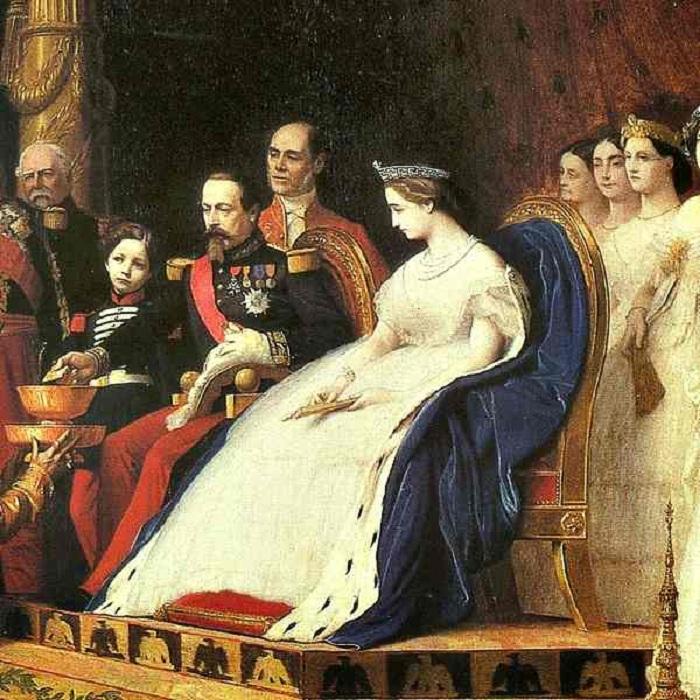 Последняя правящая императорская чета Франции.