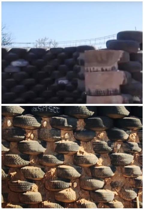 Свободное пространство строитель заложил глиной с опилками и уплотнил камнями. | Фото: motor2.info.