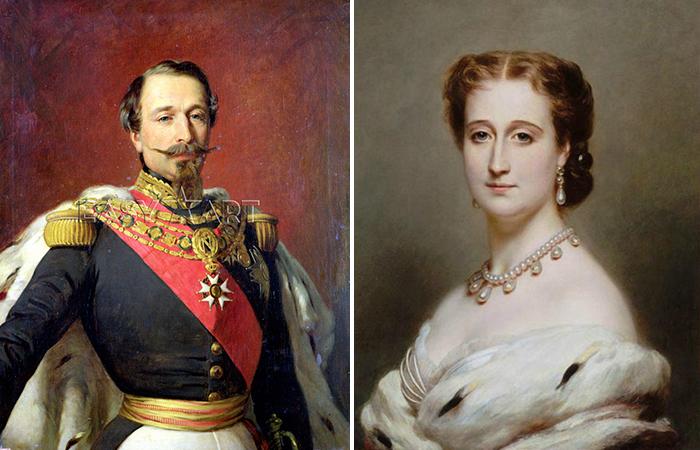 Наполеон и Евгения. Автор: Франц Ксавер Винтерхальтер.