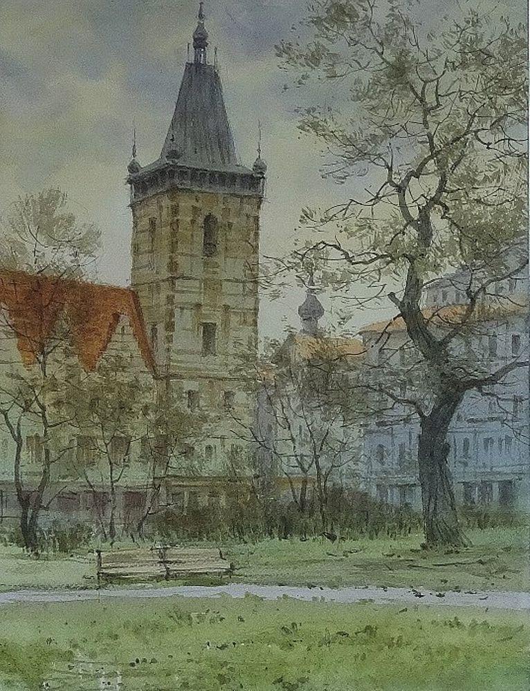 Акварельные пейзажи художника Ильи Горгоца, фото № 19