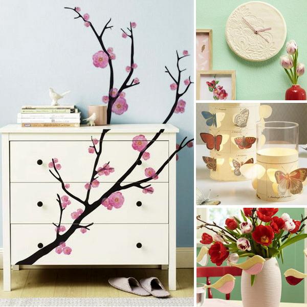 Весенний декор своими руками: 15 мастер-классов — бабочки, птицы, ветви и цветы