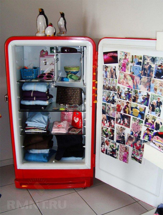 Шкаф из старого холодильника