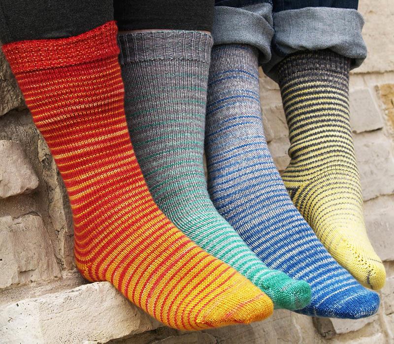 Градиентное вязание с переходом цветов: яркие идеи и мастер-классы вязание,рукоделие,своими руками