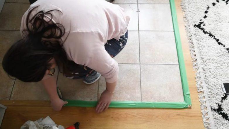 Как обновить керамическую плитку с помощью краски и трафарета керамическая плитка,переделки,своими руками