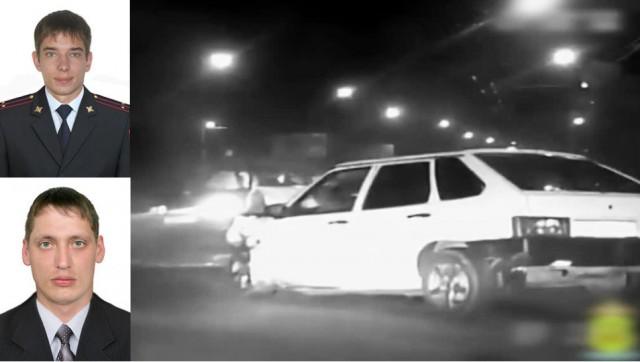 В Пензе полицейские приняли удар лихача и спасли пешеходов