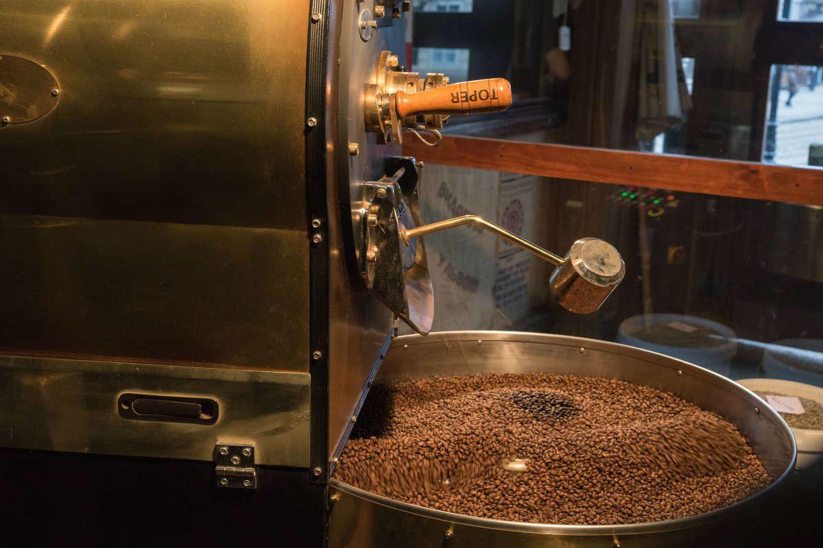 процесс приготовления растворимого кофе