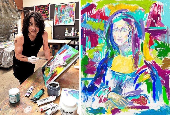 Пол Стэнли живопись, звезды, знаменитости, кино, многогранный талант, неожиданное увлечение, художники, эстрада