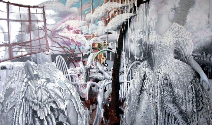 Сюрреализм по-советски: Многогранные картины с элементами поп-арта и гротеска