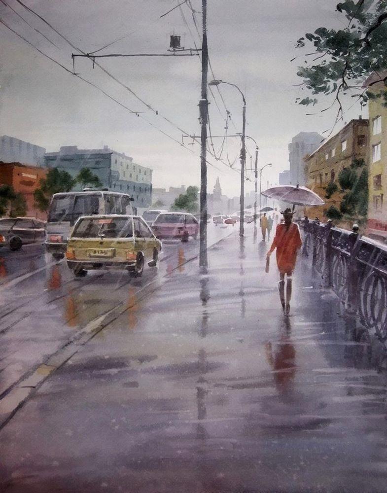Акварельные пейзажи художника Ильи Горгоца, фото № 44