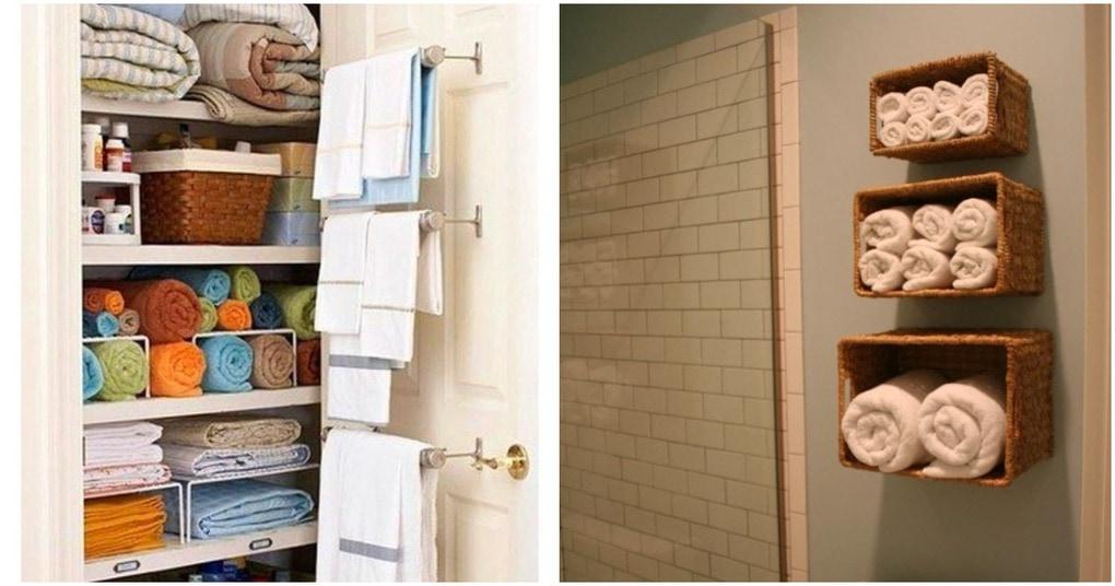 25 практичных идей, как хранить полотенца на кухне и в ванной