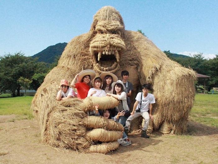 Забавные гиганты: Японские студенты нашли неожиданное применение рисовой соломе