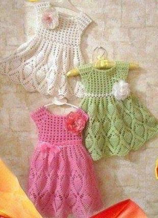 Схемы для детского платья крючком