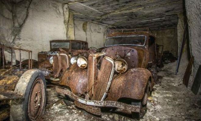 Тайник машин Второй мировой