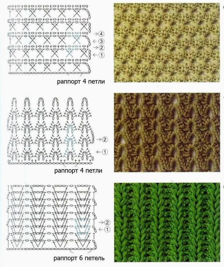 Схем вязания английской резинки 804