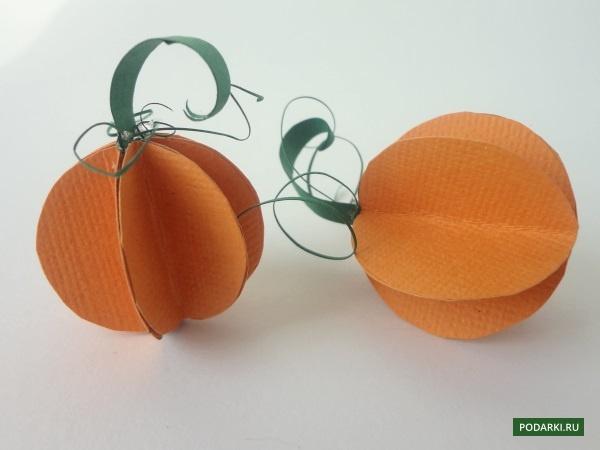 Веселые тыквы избумаги